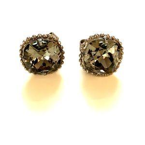 Gray stud earrings
